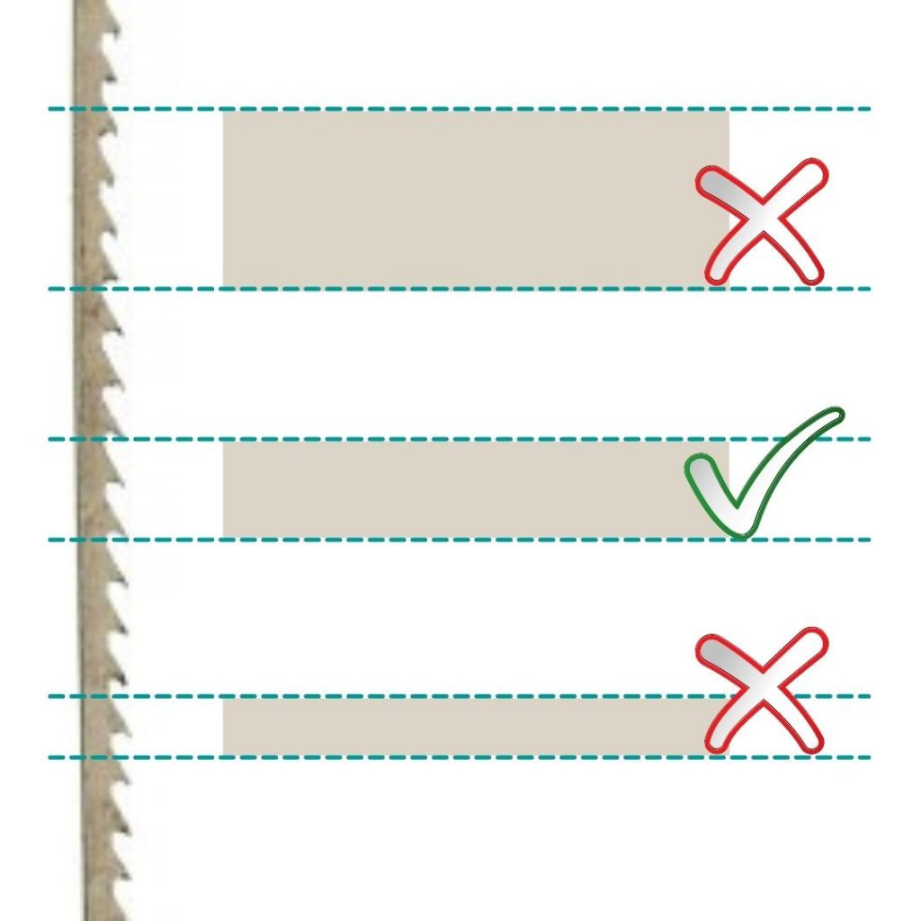 saw blade to metal thickness guide