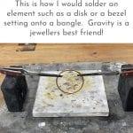 Soldering a bracelet